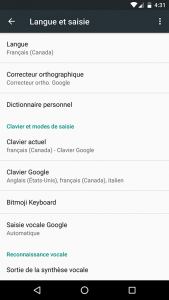 Language & keyboard - Printscreen