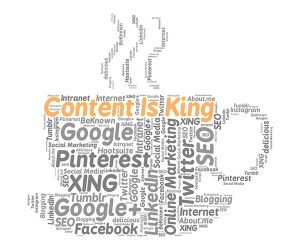 A cup of coffee for social media management