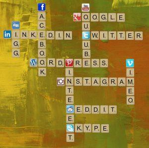 Médias sociaux scrabble