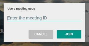 Google Meet - screenshot