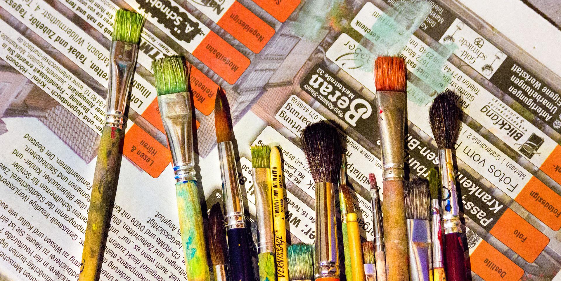Pinceaux et couleur
