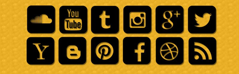 Mosaïque de médias sociaux