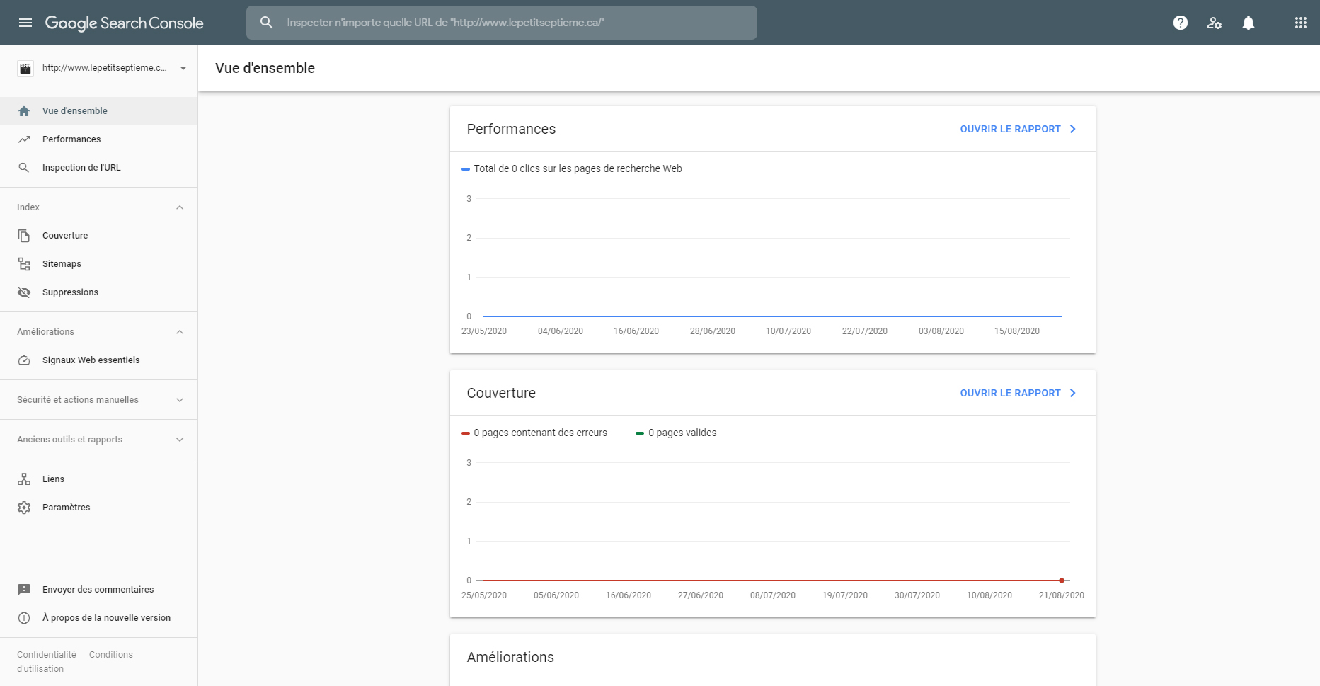 Search console screenshot LPS